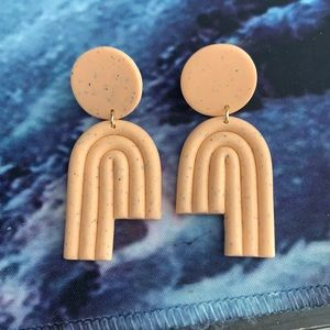 Polymer Clay Arch Earrings